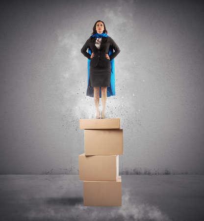 Het concept van een succesvolle zakenvrouw