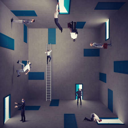 Concept of confusion and right strategy of a businessman