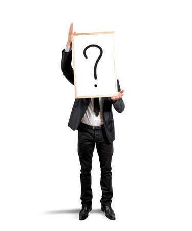 Concept van de twijfel en de vraag van een zakenman
