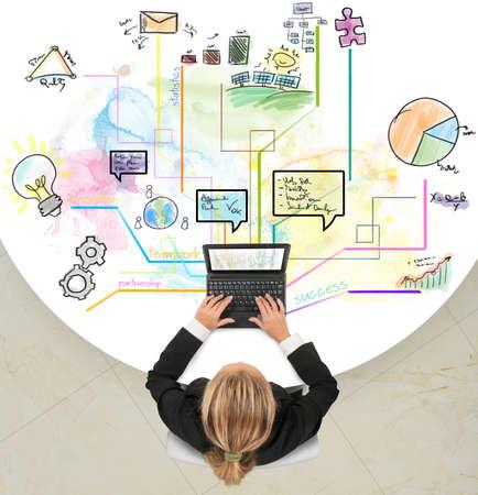 Projeto criativo de sucesso de uma empres