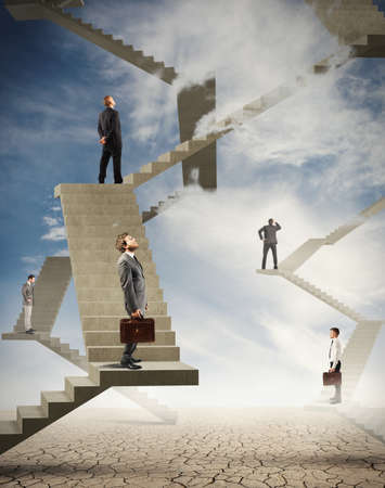 stair: Concept van moeilijkheid en complexiteit in het bedrijfsleven Stockfoto