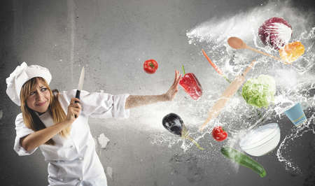 farina: Woman chef has problems in the kitchen