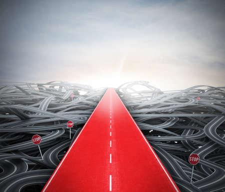 concept: Moyen facile Rouge à succès sur rue confusion