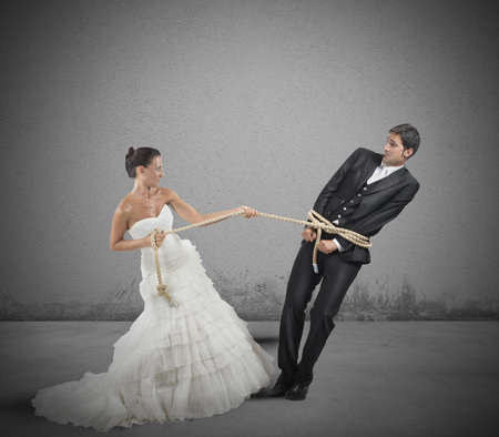 A man trapped with rope by marriage photo