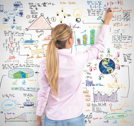eficiencia: A las mujeres rubias dibujo su proyecto