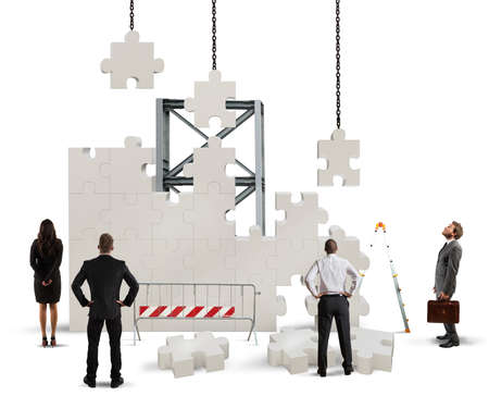 A team of businesspeople builds a new company Reklamní fotografie
