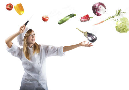 par�?s: Chef prepara una receta como una hechicera