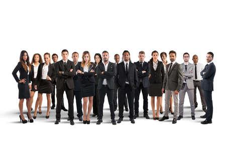 groupe de personne: Les gens d'affaires travaillent ensemble comme une grande �quipe Banque d'images