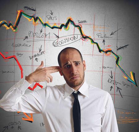 business: 実業家は、危機の自分自身を撃つ 写真素材