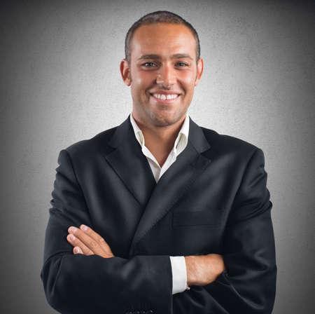 semblance: Un uomo d'affari soddisfatto con la sua carriera di lavoro