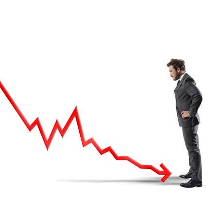 Konzept der negativen Statistiken aufgrund der Krise Standard-Bild - 34404573