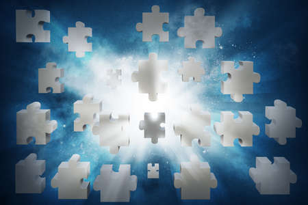 Concept of partnership and integration with puzzle photo