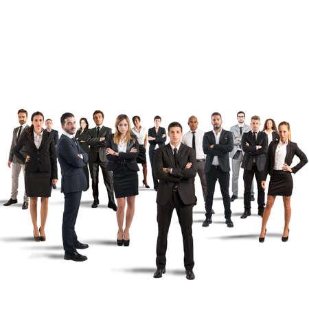 business: 合作夥伴和團隊合作與商人的概念