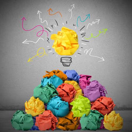 pensamiento creativo: Muchos conceptos pueden dar una gran idea