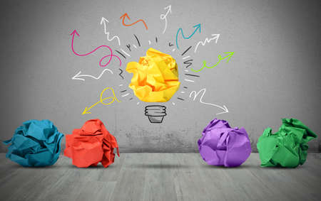 bright ideas: A great idea can make the difference Stock Photo