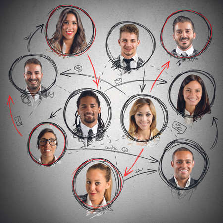 Social network connection between men and women