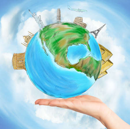 Have the whole world in one hand photo