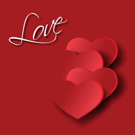ardor: Corazones como s�mbolo de amor pasi�n el romance Vectores