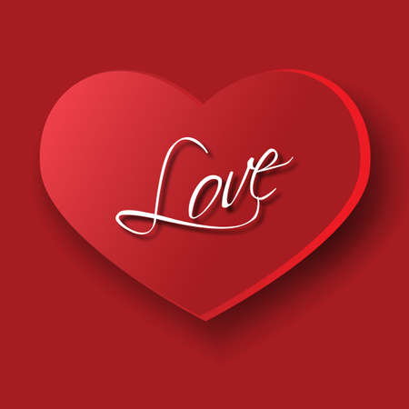 amorousness: Big heart as a symbol of love