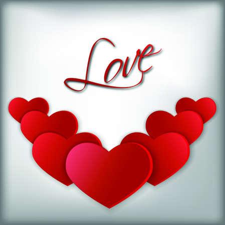 fervor: Big red hearts symbols of st valentine