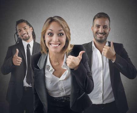 Entrepreneurs optimistic smile for their beautiful career photo