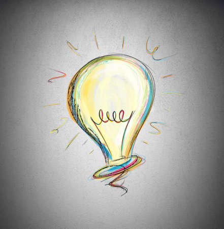 design objects: Concept of idea in a light bulb
