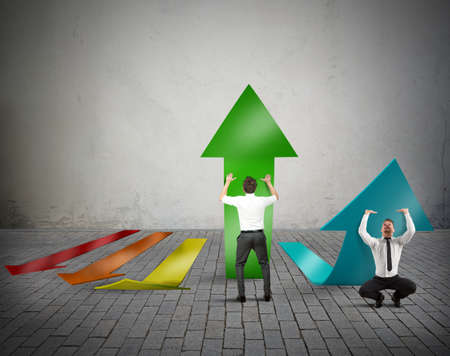 growing success: Businessperson try to grow the company profit Stock Photo