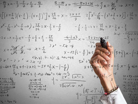 mathematical: Woman explains and solves a mathematical calculation