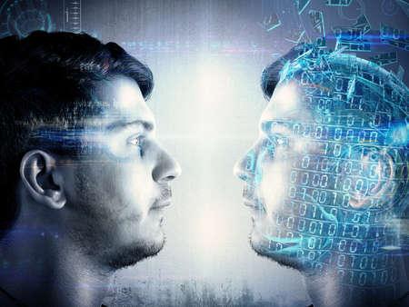 digitální: Člověk se snaží vytvořit kopii identity