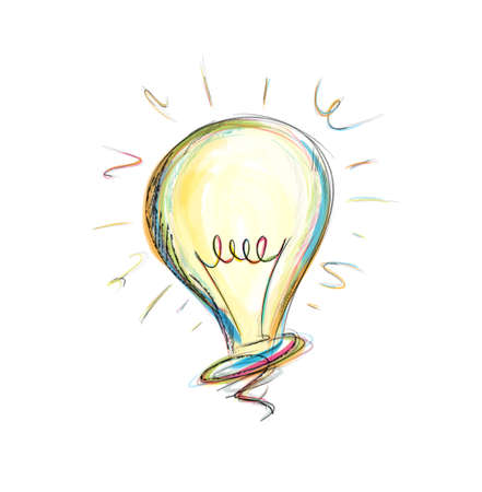Concept of idea in a light bulb