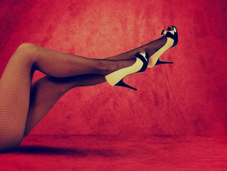 sex pose: Legs of a woman seductive and sexy Stock Photo