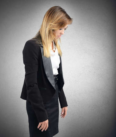 accused: Businesswoman sad and stressed from her job