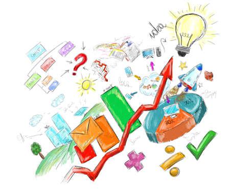 Produceren bedenken en succes in de baan Stockfoto