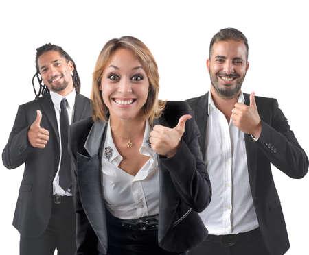 entrepreneur: Entrepreneurs optimistic smile for their beautiful career Stock Photo