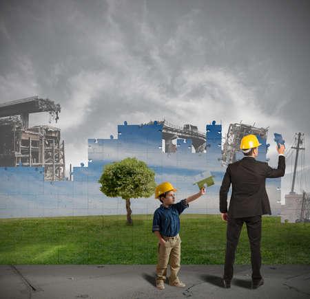 mundo contaminado: Los ni�os aprenden de los adultos para mejorar el mundo