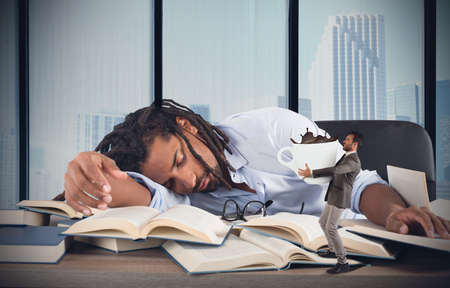caffeine: Tired manager wakes up with much caffeine