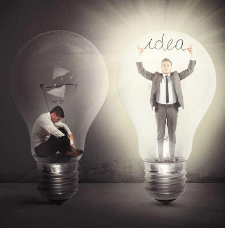 intelligent solutions: Desperate afflicted businessman suddenly a brilliant idea