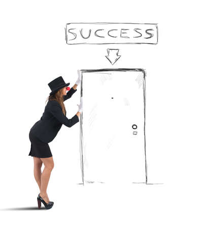 imagines: Mime businesswoman imagines her way to success