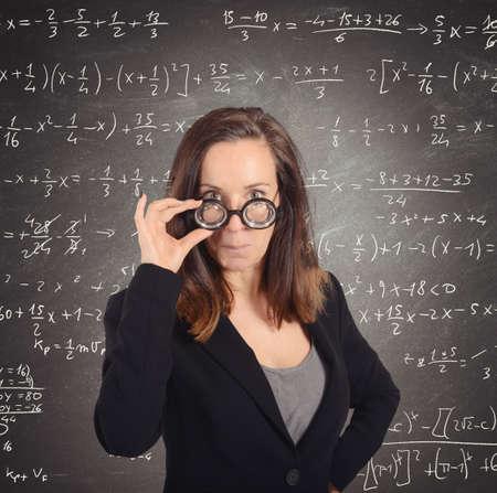 eccentric: Eccentric nerd math teacher asks the students