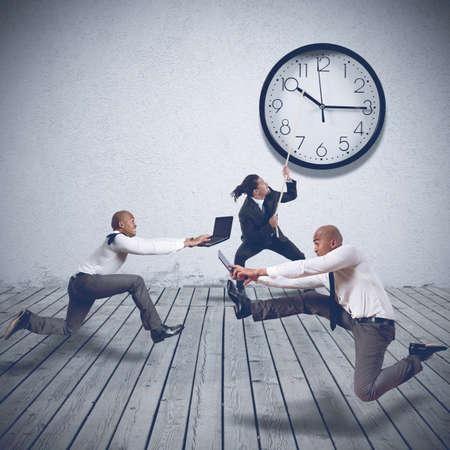 demanding: Demanding boss wants maximum speed by employees
