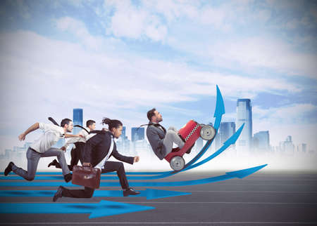 Businessmen in the race to financial growth
