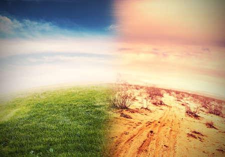 自然環境と地球温暖化の変化 写真素材