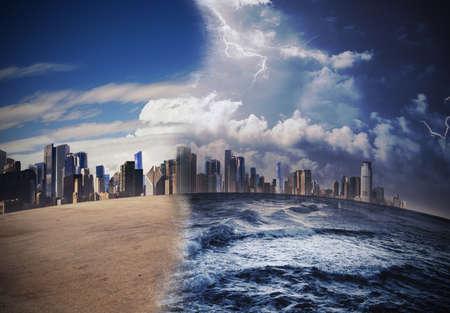 calentamiento global: Fusión de los glaciares debido al calentamiento global Foto de archivo