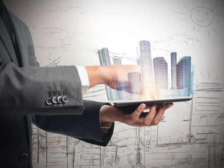 vision futuro: Arquitecto muestra la visión futurista de los edificios