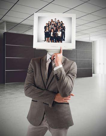 elaboration: Businessman organizes and thinks the success team Stock Photo