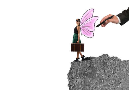 anywhere: Free traveler go anywhere like a butterfly Stock Photo