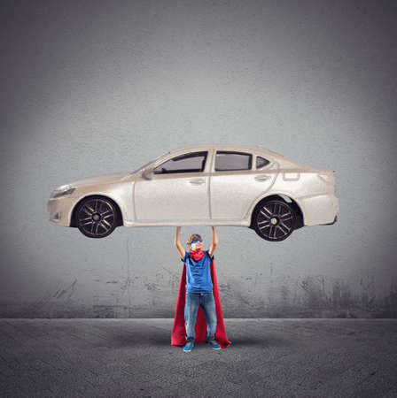 courageous: Superhero can lift a car with powers