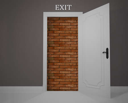 arduous: Exit obstructed by a job without opportunities