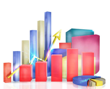 statistical: Graphs measure the economic and financial growth