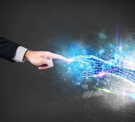 technology: Collegamento tra umano e il mondo virtuale